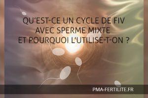 cycle de FIV avec sperme mixte